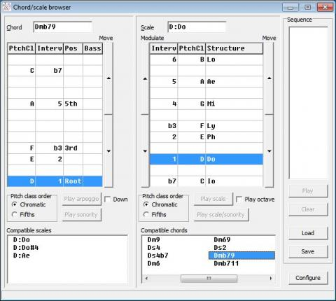 DF: chord/scale browser