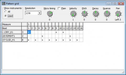 R-8 pattern grid