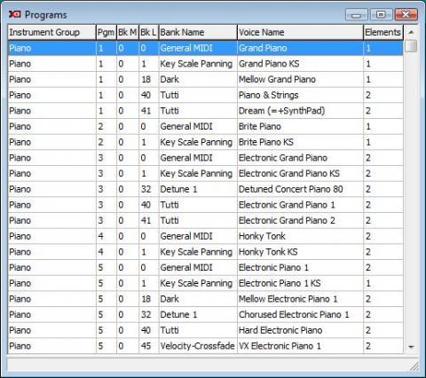 XG programs